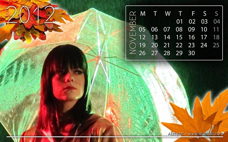 Alizée Art - Calendar for November 2012