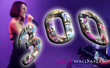 300th Alizée Wallpaper by RMJ - click for information & download options