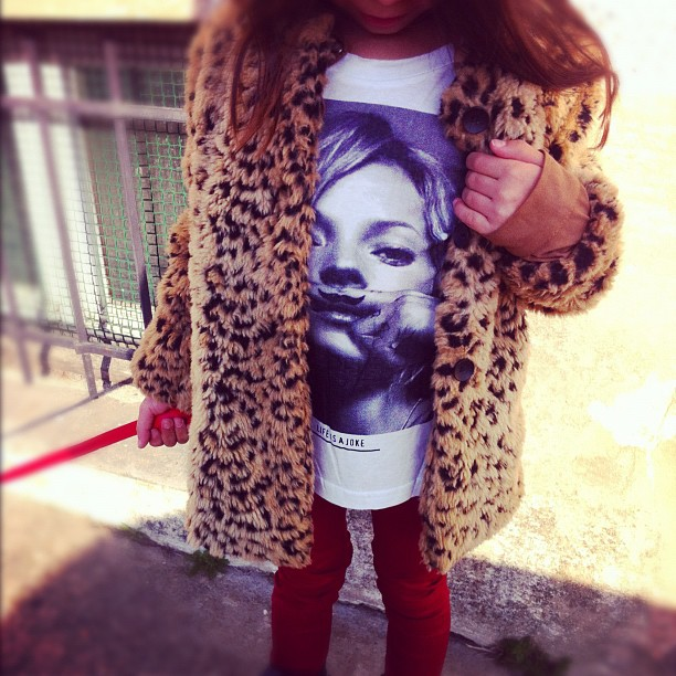 2012-03-19 - My fashion girl 🎀✌❤ #katemoss #fashion #girl #love #child