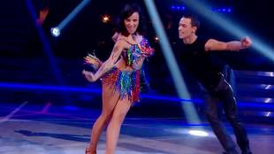 Alizée & Grégoire Lyonnet dancing mixed samba & paso doble