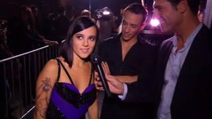 Alizée's interview after flamenco