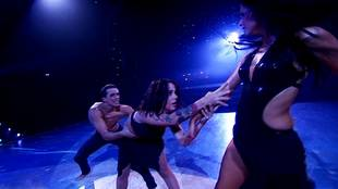 Alizée, Grégoire Lyonnet & Candice Pascal dancing rumba trio on season 4