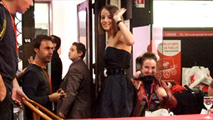Alizée leaving from dedication event at Virgin Megastore on Champs Elysées in Paris