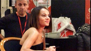 Alizée during dedication event at Virgin Megastore on Champs Elysées in Paris