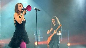 Alizée at W9 VIP Live concert
