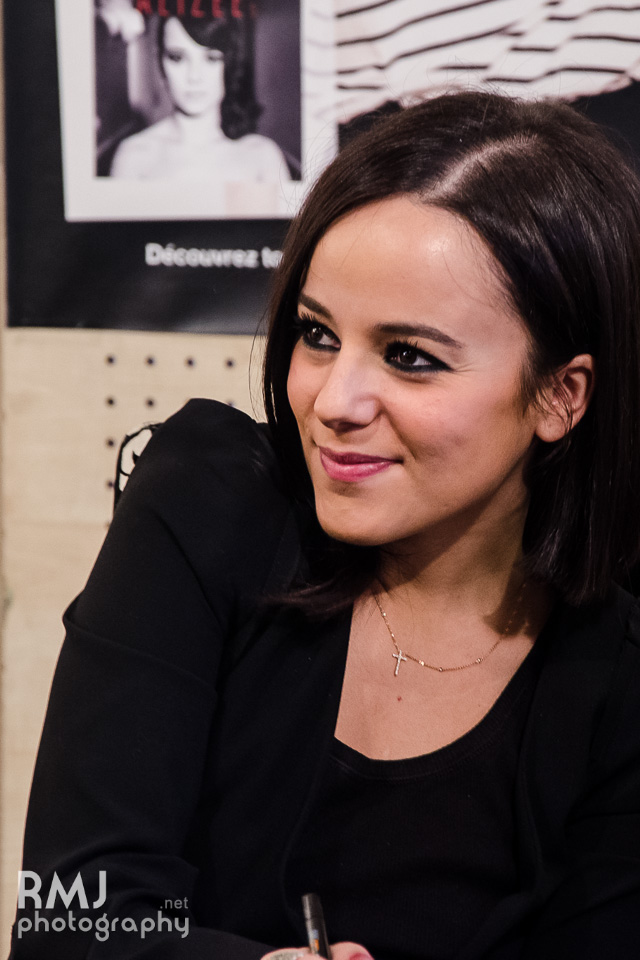 Alizée at dedication event