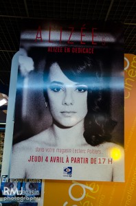 Alizée at autograph signing event