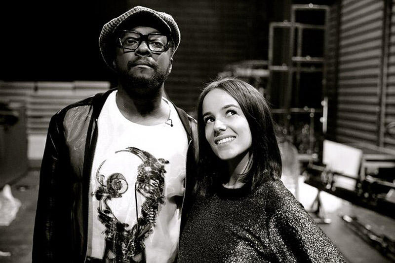 Alizée with will.i.am at NMA