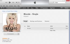 Alizée Blonde on iTunes