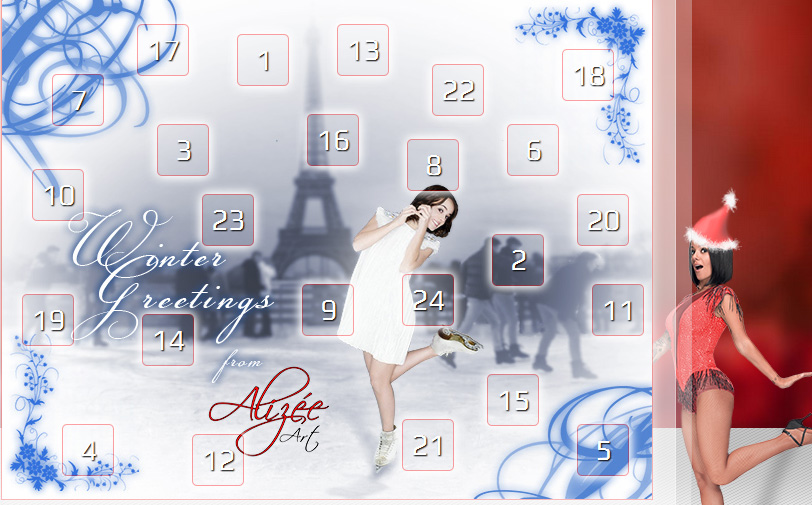 Alizée Art's Xmas advent calendar 2013