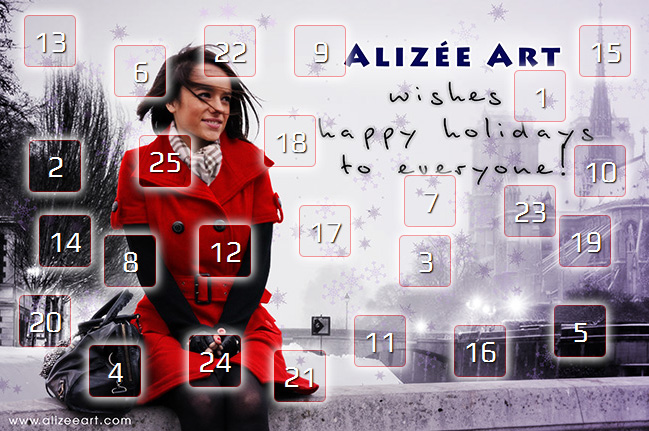 Alizée Art's Xmas advent calendar 2015