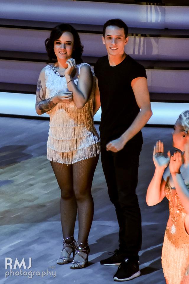 Alizée & Grégoire in Lille during Danse avec les stars Tour 2016