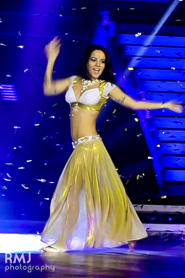 Alizée dancing during Danse avec les stars in Lyon
